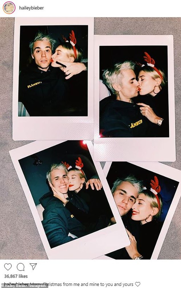Too cute!Justin Bieber, 25, and wife Hailey Baldwin, 23, looked to have a nice Christmas Wednesday filled with family, fun and music, showing off their lighthearted holiday on social media