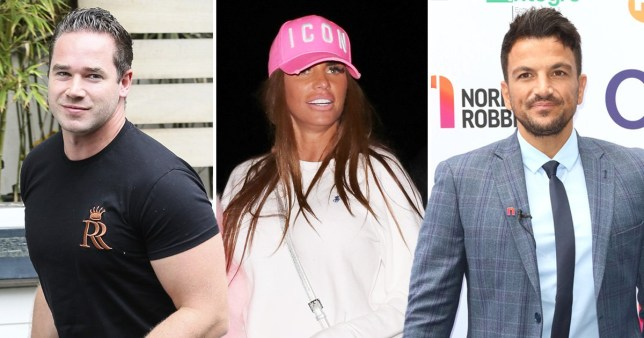Kieran Hayler, Katie Price and Peter Andre