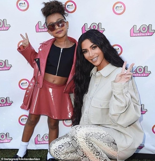 More gifts for her girl: Kim Kardashian revealed on Instagram that her and Kanye West gifted daughter North a jacket that belonged to the 6-year-old's music idol, Michael Jackson, just days ago