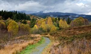 The footpath to the hamlet of Rhiwddolion follows Sarn Elen.