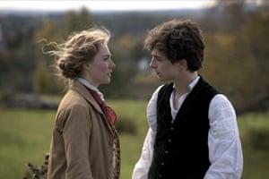 Saoirse Ronan and Timothée Chalamet in Little Women.