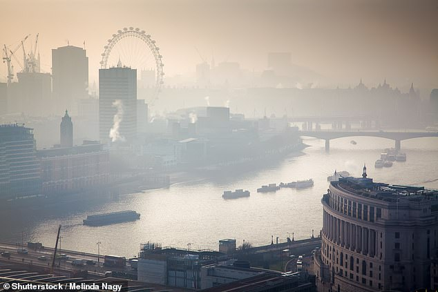Eight samples were taken and measured in England's capital city, revealing it to be the city with the most polluted atmosphere (stock)