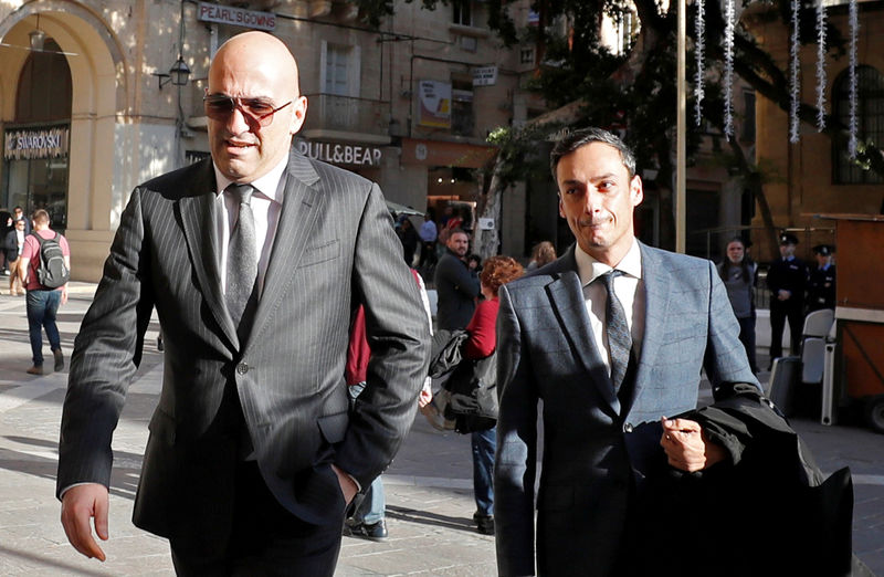 © Reuters. FILE PHOTO: Maltese businessman Yorgen Fenech, who was arrested in connection with an investigation into the murder of journalist Daphne Caruana Galizia, arrives at the Courts of Justice in Valletta