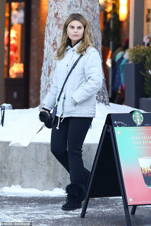 Shop til you drop!Maria Shriver enjoyed a snowy day of shopping with her daughter Christina Schwarzenegger in Aspen, Colorado on Friday