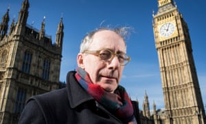 Sir Malcolm Rifkind with the Palace of Westminster in the background