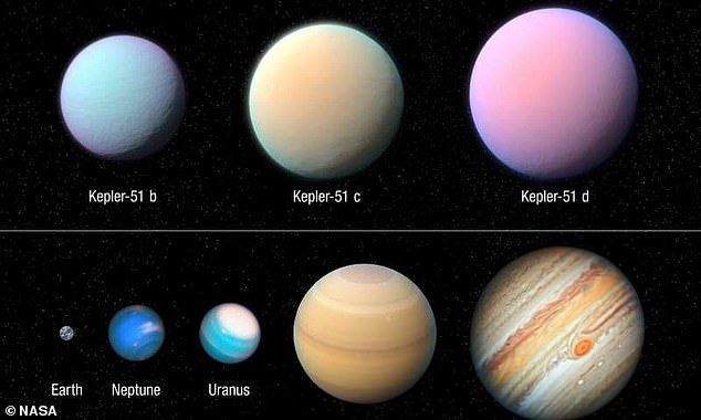 NASA's Hubble Space Telescope has shed new light on the three 'cotton candy' exoplanets orbiting a young sun-like star 2,600-light-years away. These distant worlds are the size of Jupiter but with a hundred times lighter mass, making them unlike anything that exists in our solar system