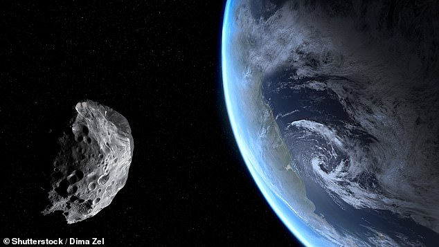 The largest asteroid to pass this evening is called 2019 YR3 and will pass nearly a million miles away from the Earth - over three times further out than the Moon (stock image)