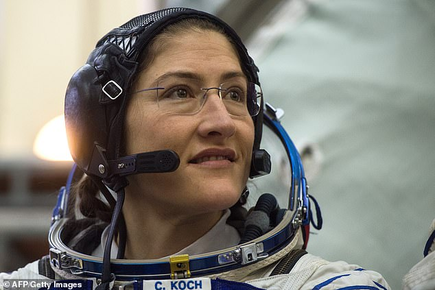 NASA astronaut Christina Koch (pictured) is set to make history once again. On December 28, she will have been in space for 288 days, breaking the record for the longest single spaceflight by a woman