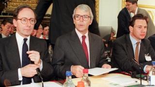Malcolm Rifkind, John Major and Michael Portillo in 1995