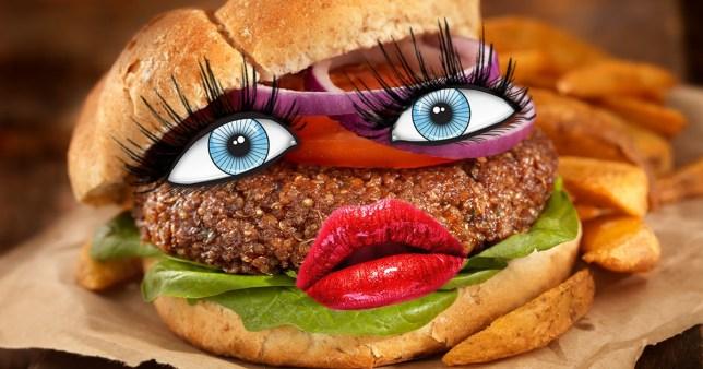 Vegan burger estrogen