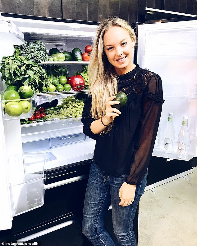 Sydney nutritionist Jessica Sepel (pictured) has shared the eight simple 'healthy resolutions' you can make without dieting or marathon workout sessions