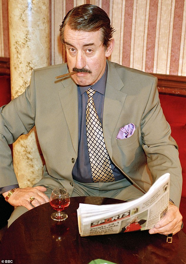 Hooray: Only Fools and Horses' Boycie star John Challis revealed his secret friendship with Ice-T on Christmas Day (John pictured as Boycie in 2002)