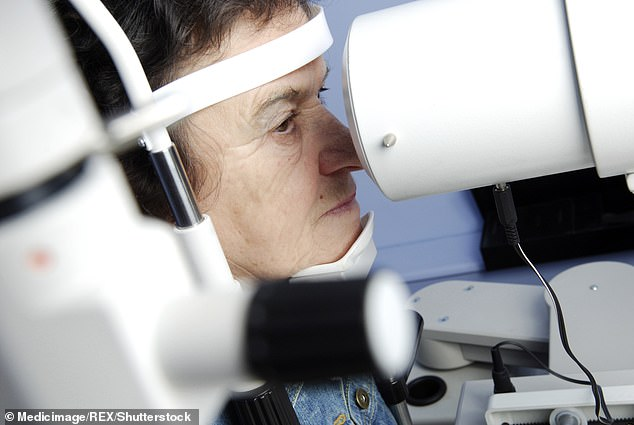 Almost half a million people in England have the most common form of the eye disease, and regular monitoring of the condition is important. File image used
