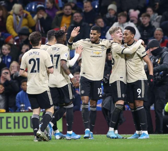 Anthony Martial celebrates a Man Utd goal