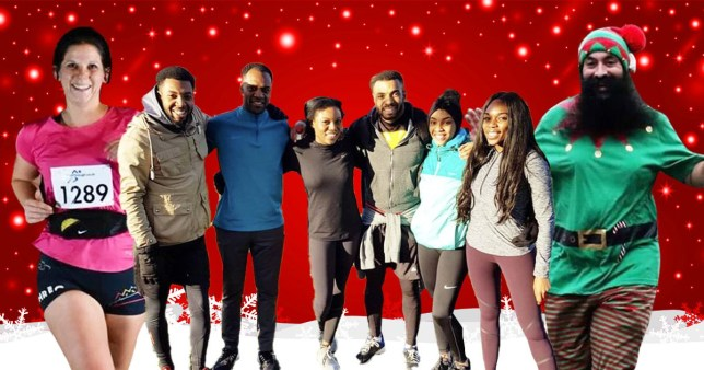 People share the empowering joy of running on Christmas Day