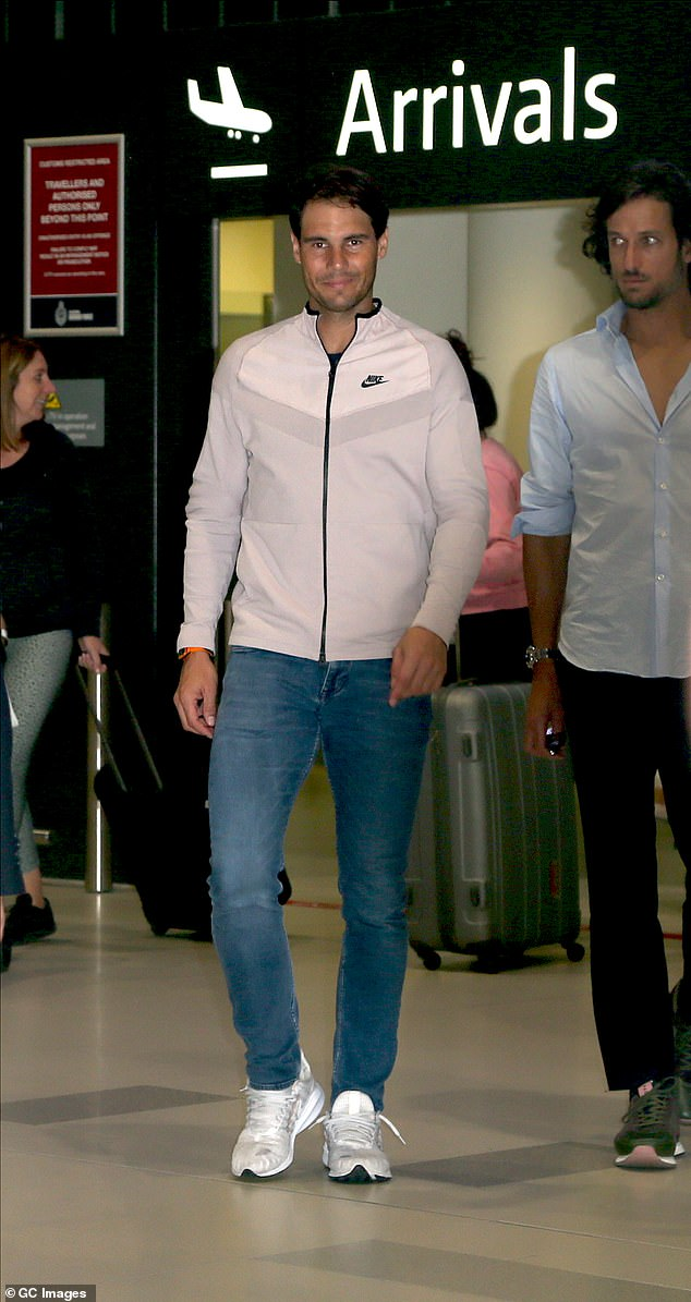 Eyes on the prize! Spanish tennis player Rafael Nadal landed in Perth, Australia, on Monday ahead of the inaugural ATP Cup