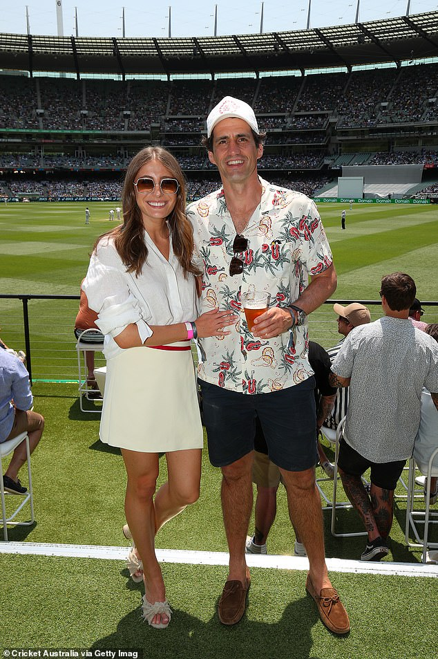 She's still bowling him over! Rebecca Harding stunned in an all-white outfit on Friday as she and boyfriend Andy Lee enjoyed a date day at the cricket in Melbourne