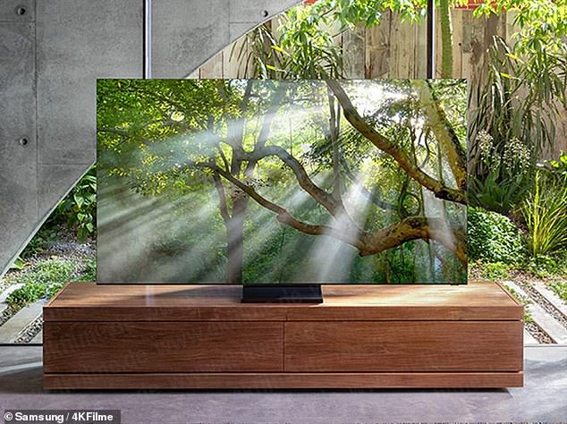 A picture leaked by German site, 4KFilme (above) is reportedly the first ever image of Samsung's soon-to-be-unveiled bezel-less TV