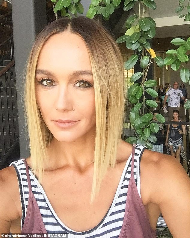 Fears:Heartbroken Home and Away star Sharni Vinson (pictured) has revealed her family's New South Wales farm is 'severely under threat' from raging bushfires