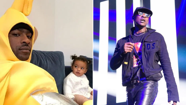 Skepta with daughter