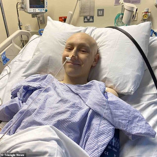 Always smiling:Joseph Lunn, 17, suffers fromsynovial sarcoma, a rare and incurable cancer that has plagued his abdomen