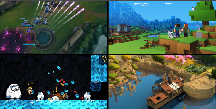 Very nature-oriented color scheme to our 2010s video gaming favorites.
