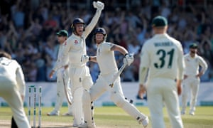 Ben Stokes and Jack Leach celebrate winning the Headingley Ashes Test after the all-rounder's once-in-a-lifetime innings.