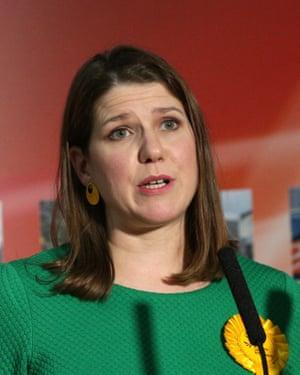 Jo Swinson speaks after losing her seat