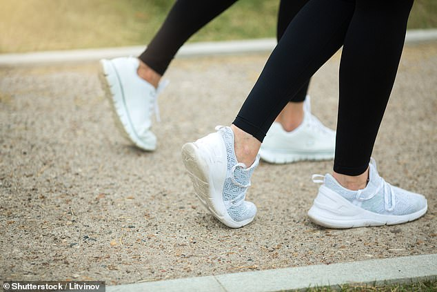 Researchers in Italy blamed modern footwear like trainers for a lack of flexibility in ankle joints compared with ancestors (stock)