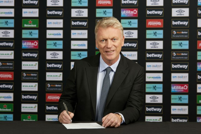 David Moyes smiles after being appointed West Ham manager