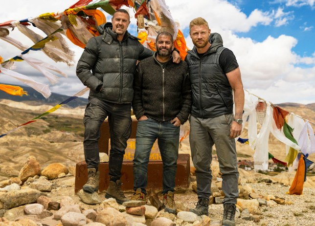 Paddy McGuinness, Chris Harris and Freddie Flintoff on Top Gear