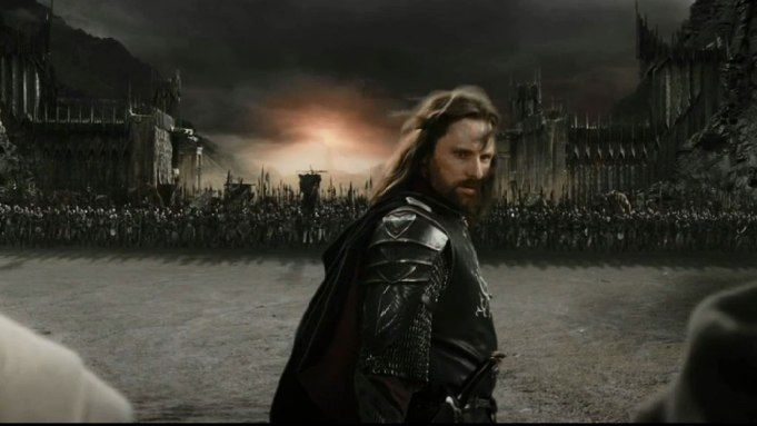 Viggo Mortensen in Peter Jackson's Lord of the Rings (Credit: New Line)