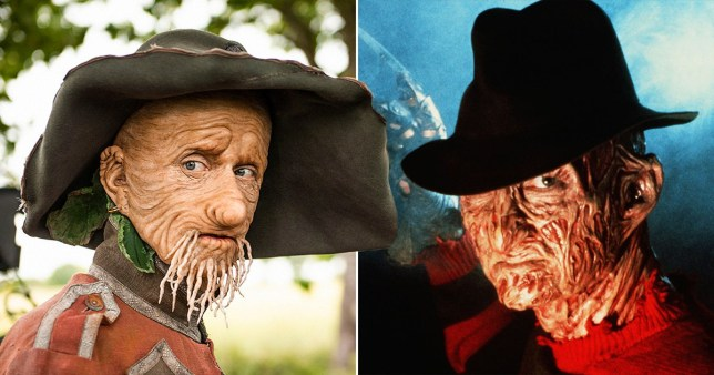 Mackenzie Crook and Freddy Krueger