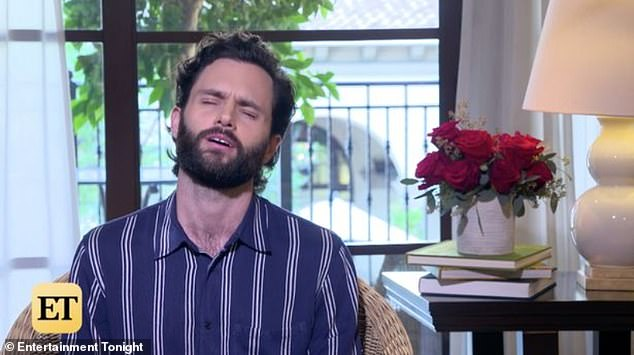 Woops: Penn Badgley, 33, accidentally let slip during an interview with Entertainment Weekly that his hit Netflix show You will return for a third season