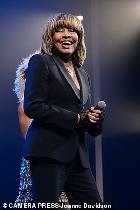 Tina Turner, pictured last year at the opening night in the West End of the musical Tina