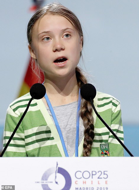 'Greta Thunberg' (pictured) received surges of interest in late September and mid-December, giving her more search interest in the last three months