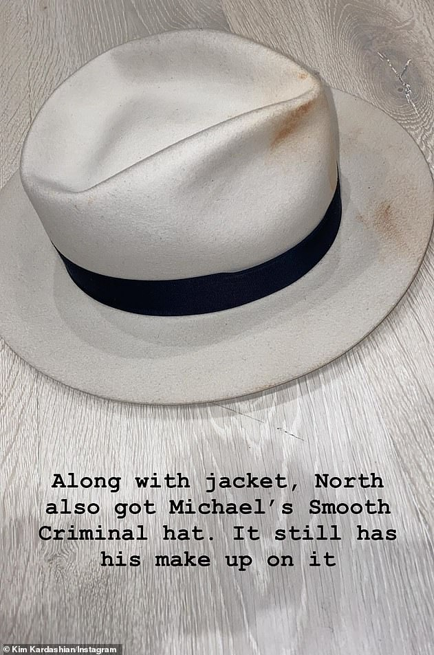 The Keeping Up With The Kardashians star also purchased the white fedora made famous by Jackson in the 1988 music video for Smooth Criminal