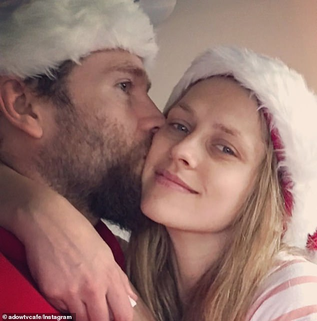 'We are all together and feel very fortunate':In a 'reflective state', Teresa said she was just happy to be with her loved ones for Christmas (Pictured with husband Mark Webber)