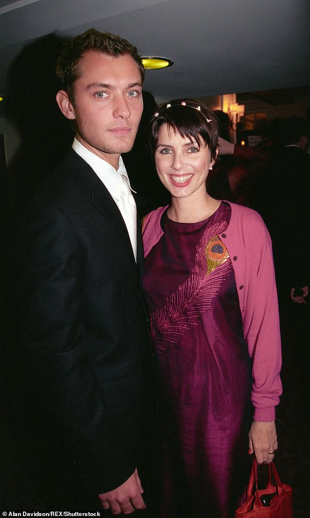 Former couple: Sadie and actor Jude Law (pictured in 1998), 46, were married from 1997 until their divorce in 2003