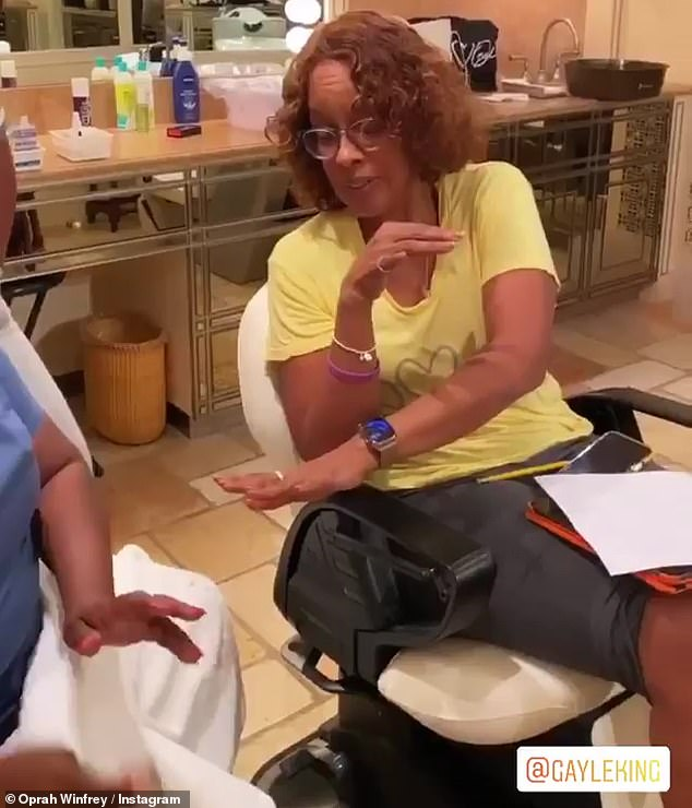 Birthday girl: King said while getting her nails done: 'It's 65, but the good thing is, I don't feel 65. What does 65 feel like? I don't know, but I don't feel that'