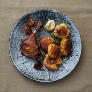 Great British Bake-Off contestants New Year Meal 2019: Henry's duck leg with clementines and roast potatoes.