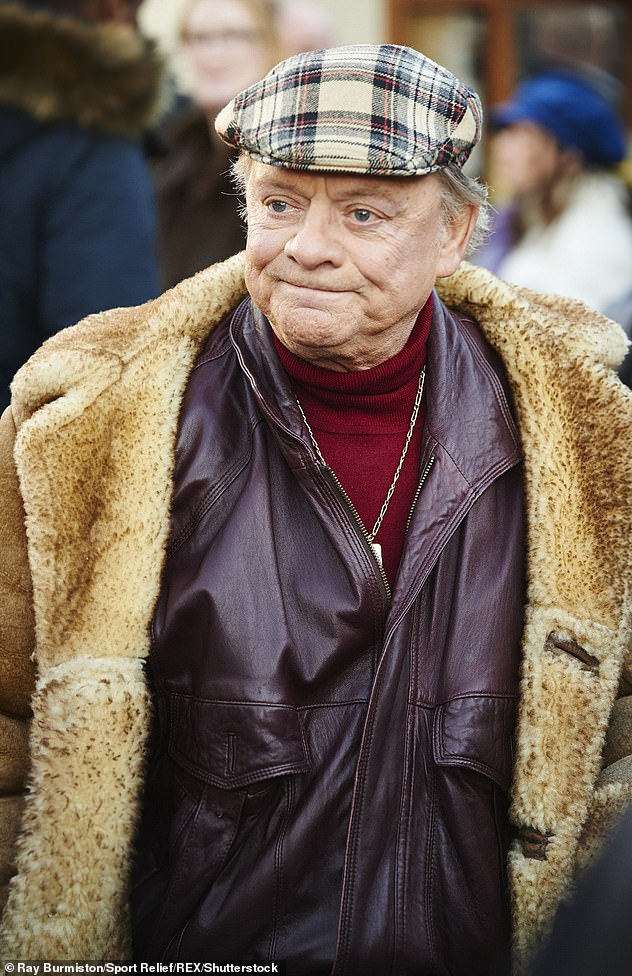 Fury: John's viral snap comes after Only Fools and Horses fans slammed an upcoming convention which is charging £375 per person to meet 'Del Boy' actor David Jason (pictured 2014)