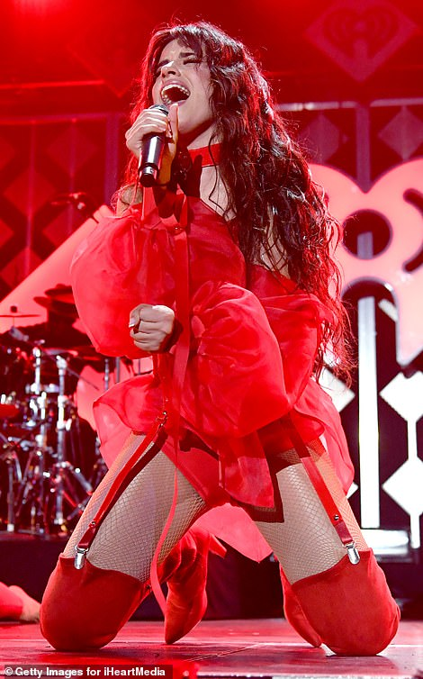 Fun times: Camila appeared to be in her element as she put on a hugely animated display on stage