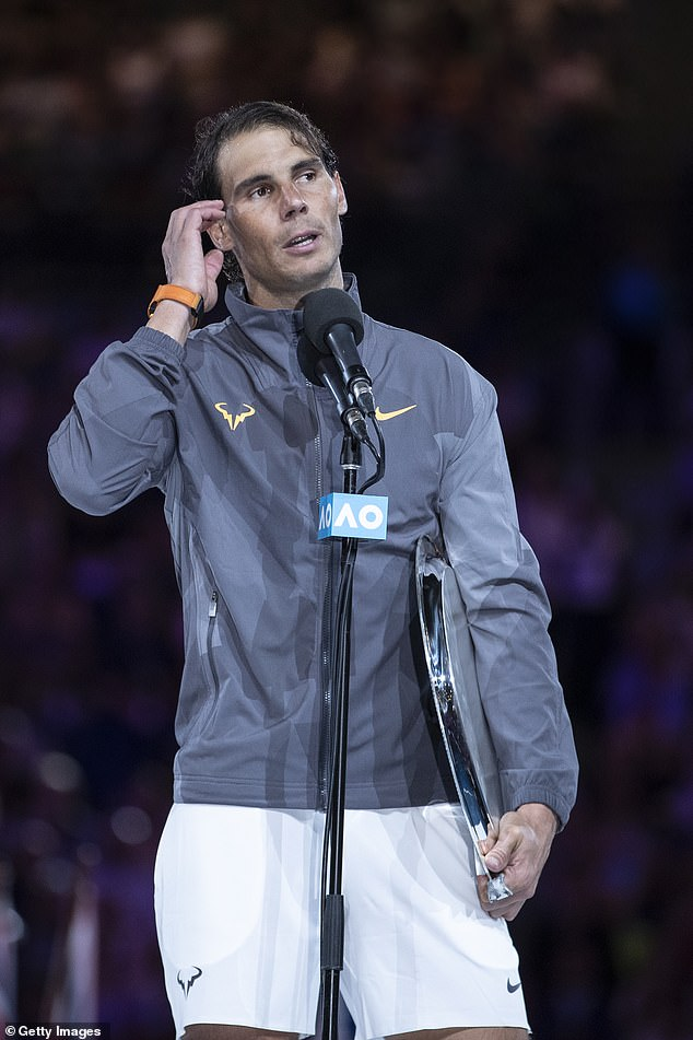 Defeat:Nadal was defeated in his Men's Singles Final match against Novak Djokovic of Serbia during day 14 of the 2019 Australian Open at Melbourne Park on January 27, 2019