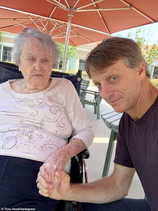 Family: The former professional skateboarder made the somber announcement on Instagram with a heartfelt tribute praising his mother's tenacity and sharing gratitude for her wisdom throughout the years
