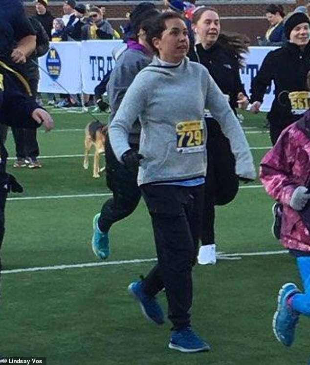 Already Lindsay is racing in 5Ks again (pictured), and in the future she looks forward to travelling - hopefully to Australia to see the Great Barrier Reef