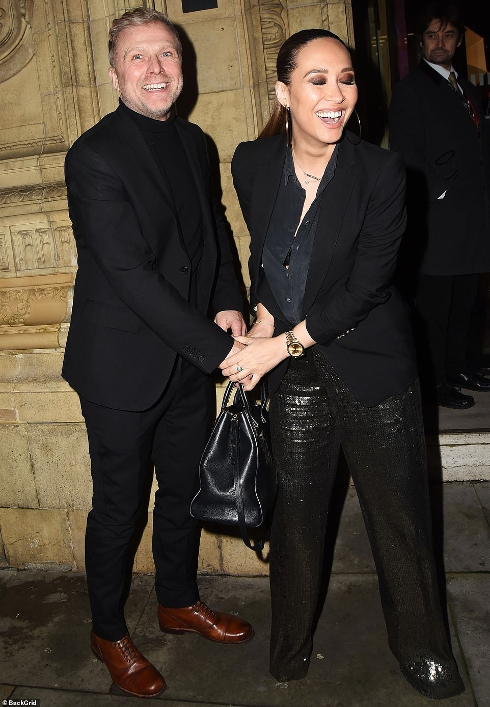 Exciting year:The TV and radio presenter and her long-term partner Simon welcomed their first child together in August (pictured in December 2019)