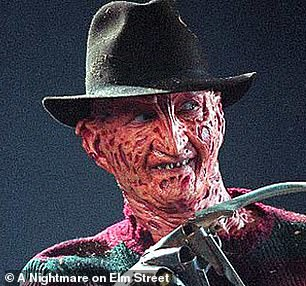 'There'll be some nightmares tonight': Many compared the friendly scarecrow to Freddy Krueger (Robert Englund pictured in 1984's A Nightmare on Elm Street)