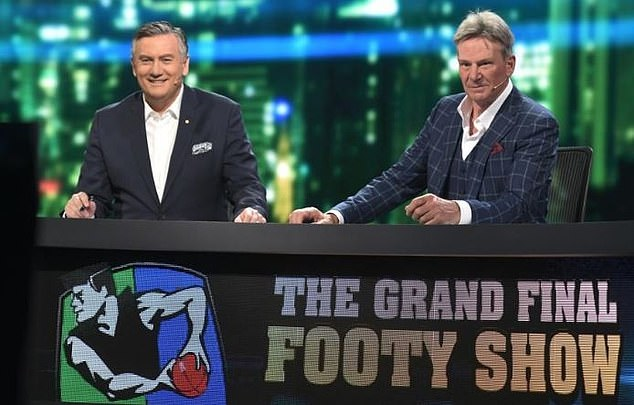 Axed: Channel Nine cancelled The AFL Footy Show in May, after poor ratings (Sam Newman is pictured R)