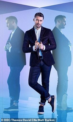 Sharp: Matthew cut a suave figure in a velvet suit
